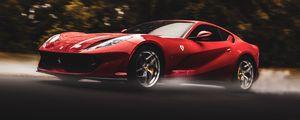 Preview wallpaper ferrari, sports car, car, speed, red