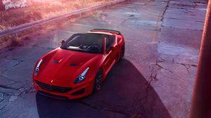 Preview wallpaper ferrari, sports car, convertible, red