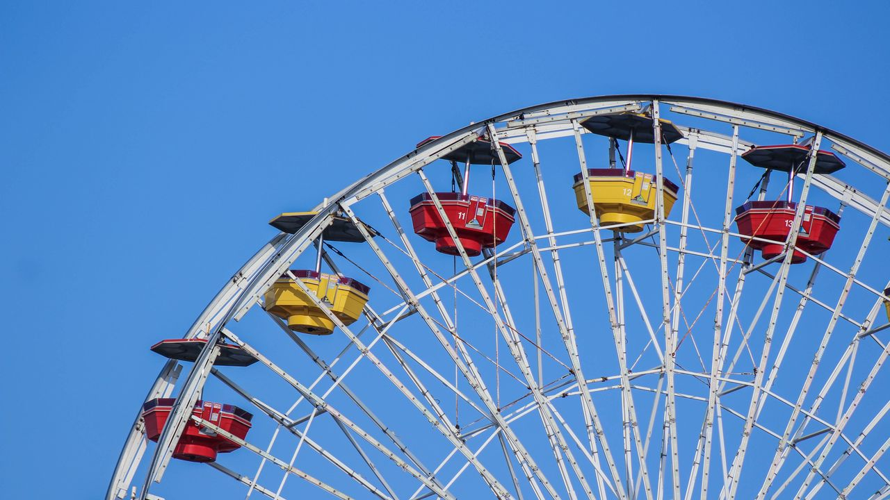 Wallpaper ferris wheel, amusement, entertainment