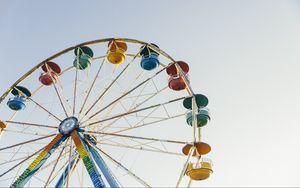 Preview wallpaper ferris wheel, amusement, sky