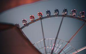 Preview wallpaper ferris wheel, attraction, entertainment, construction, metal