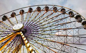Preview wallpaper ferris wheel, attraction, entertainment, lighting