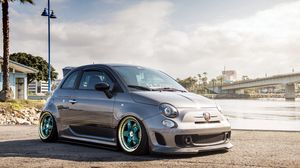 Preview wallpaper fiat, 500, abarth, hatchback, tuning