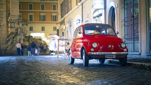 Preview wallpaper fiat, 500px, red, front view