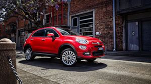Preview wallpaper fiat, 500x, side view, red