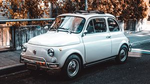 Preview wallpaper fiat, car, retro, vintage, side view