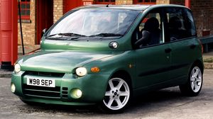 Preview wallpaper fiat, multipla abarth, green, stylish, auto, front view, building
