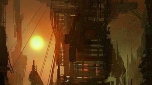 Preview wallpaper fiction, steampunk, building, art