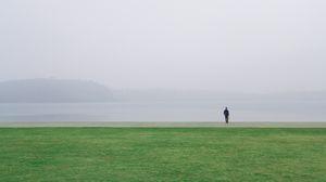 Preview wallpaper field, alone, solitude, horizon, grass
