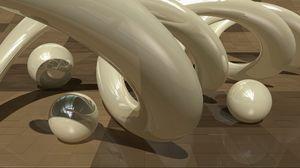 Preview wallpaper figure, metal, glass, shape
