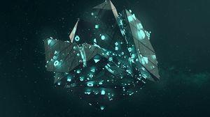 Preview wallpaper shape, neon, shapes, symbols, glow, polyhedron, 3d