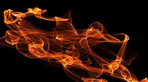 Preview wallpaper fire, abstraction, clots