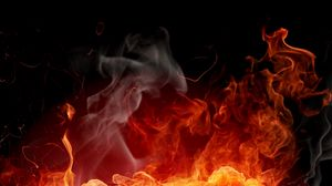 Preview wallpaper fire, background, color, abstraction