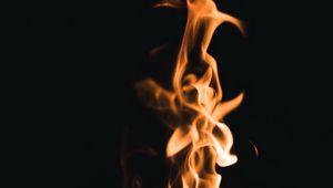 Preview wallpaper fire, flame, black