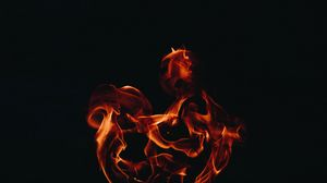 Preview wallpaper fire, flame, dark background