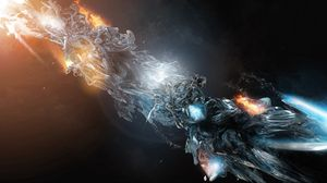 Preview wallpaper fire, form, figure, ice, streamlining