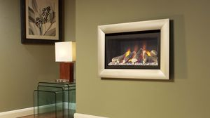 Preview wallpaper fireplace, creative, design, picture, frame