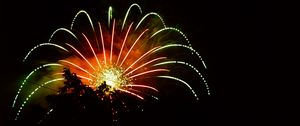 Preview wallpaper fireworks, explosion, flash, night, dark