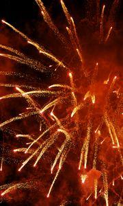 Preview wallpaper fireworks, explosion, sparks, smoke, red, dark