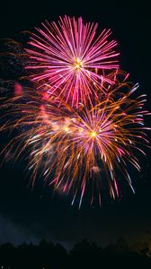 Preview wallpaper fireworks, explosions, sparks, holiday