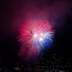Preview wallpaper fireworks, explosions, sparks, light, dark