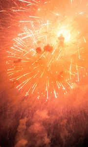 Preview wallpaper fireworks, explosions, sparks, light, smoke, red