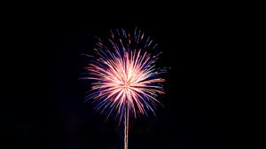 Preview wallpaper fireworks, holiday, black