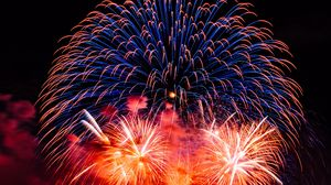 Preview wallpaper fireworks, salute, colorful, sparks, night