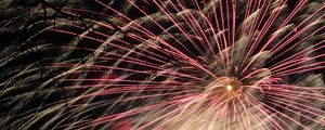 Preview wallpaper fireworks, salute, sparks, bright, night, holiday