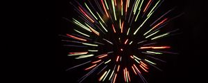 Preview wallpaper fireworks, sparks, colorful, sky, night