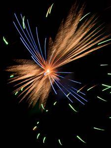 Preview wallpaper fireworks, sparks, explosion, lights, night, dark