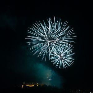 Preview wallpaper fireworks, sparks, explosion, light, dark