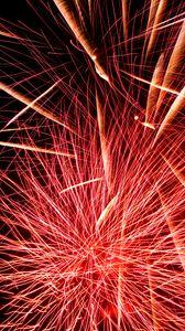 Preview wallpaper fireworks, sparks, explosion, light, red