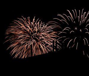 Preview wallpaper fireworks, sparks, explosion, night, dark