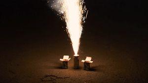 Preview wallpaper fireworks, sparks, explosion, dark