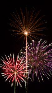 Preview wallpaper fireworks, sparks, explosions, light, celebration