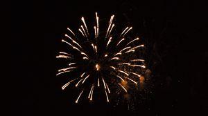 Preview wallpaper fireworks, sparks, sky, night, dark