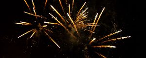 Preview wallpaper fireworks, sparks, yellow, night, holiday