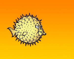 Preview wallpaper fish, needles, background, picture