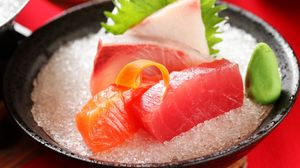 Preview wallpaper fish, salt, wasabi