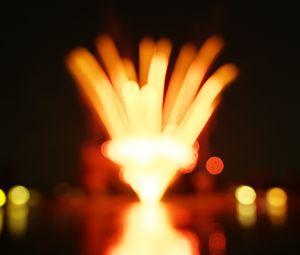 Preview wallpaper flare, bokeh, blur, lights, fireworks