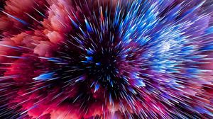Preview wallpaper flash, space, shards, scatter, bright, colorful