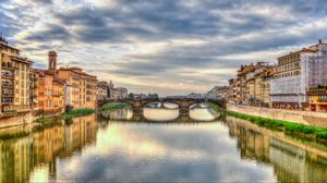 Preview wallpaper florence, italy, bridge, river, hdr