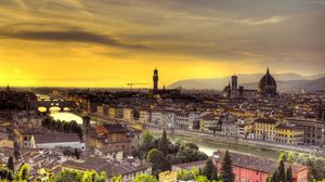 Preview wallpaper florence, italy, sunset