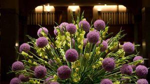 Preview wallpaper flowers, gladiolus, bouquet, fan, composition