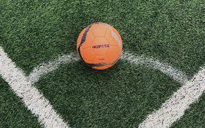 Preview wallpaper football ball, ball, football, lawn, marking
