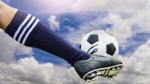 Preview wallpaper football, ball, football boots, stockings