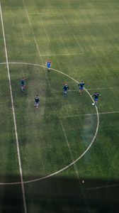 Preview wallpaper football, football field, footballers, training, sport
