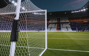 Preview wallpaper football gates, football, lawn, tribunes