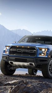 Preview wallpaper ford, f-150, raptor, pickup, stones